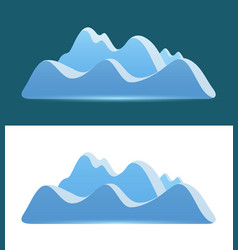 logo of blue mountains vector image
