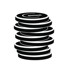 Lucky coin black simple icon vector image