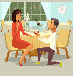 marriage proposal flat vector image