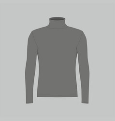 Mens black long sleeve t-shirt vector