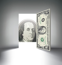 Money Door one hundred vector image