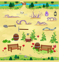 natural tems for games and app vector image