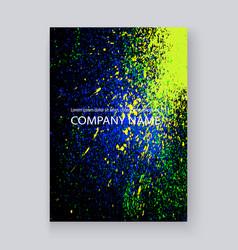 neon colorful explosion paint splatter artistic vector image