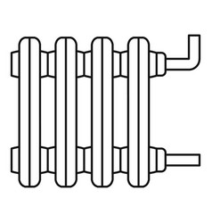 old home radiator icon outline style vector image