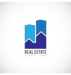 Real Estate Concept Symbol Icon or Logo Template vector
