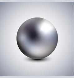 realistic dark pearl spherical 3d orb vector image