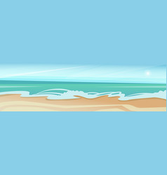 sea shore sand beach summer vacation blue sky vector image