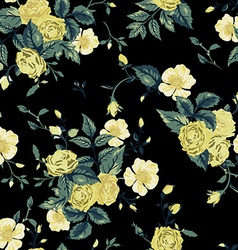Seamless floral pattern with yellow and white vector