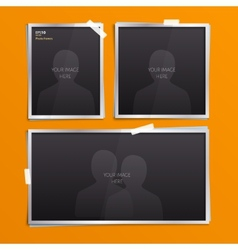 Set of empty photo frames vector image