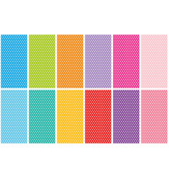 set of small polka dots seamless pattern on bright vector image