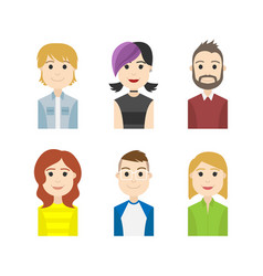 Simple people avatar business and carrier vector