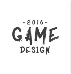 text sign of game design minimalist flat vector image