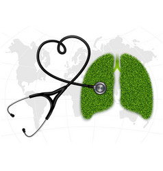 The symbolic image pulmonology vector
