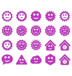 Tools gears smiles emotions icons vector