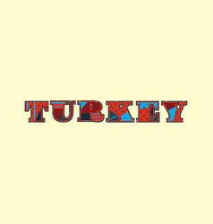 Turkey concept word art vector