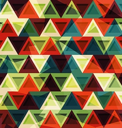 vintage triangle seamless pattern vector image