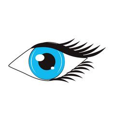 women eye cartoon vector image