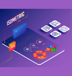 Women headhunting face id and algorithm icons vector