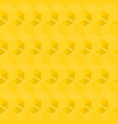 Yellow cubes pattern seamless background vector