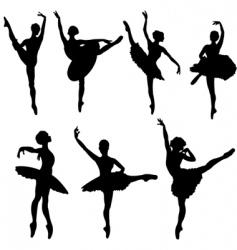 ballerina silhouettes vector image