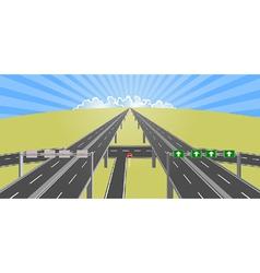 highway to horizon vector image vector image