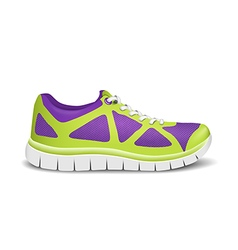 Realistic bright sport sneakers for running vector image