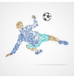 soccer football sport athlete vector image vector image