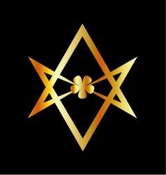 Unicursal hexagram symbol vector image vector image