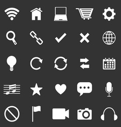 Web icons on black background vector image vector image