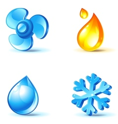 air-conditioner icons vector image vector image