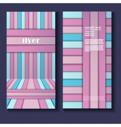 flyer template with geometric shapes vector image vector image