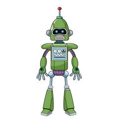 Green robot machine engineering vector