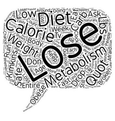 Is Your Metabolism Broken text background vector image vector image