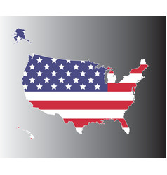United states map on black to gray background vector image vector image