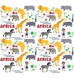 Africa cartoon pattern vector