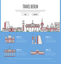 berlin city travel vacation guide vector image
