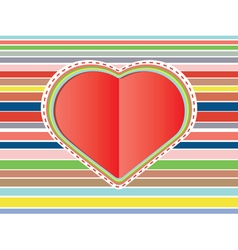 Decorative Paper Heart2 vector image vector image