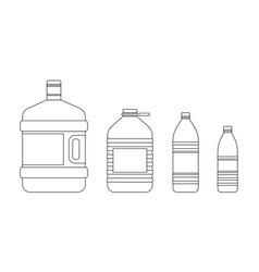 line bottles for water vector image