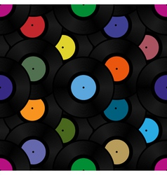 phonograph vinyl record seamless pattern vector image vector image