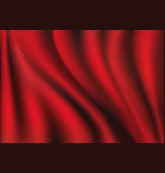 red silk backgrounds drapery textile background vector image