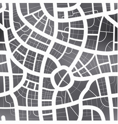 black and white map of city seamless pattern vector image