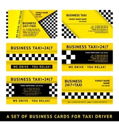 Business card taxi - tenth set vector image vector image