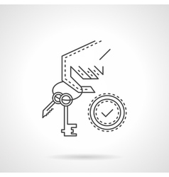 Buying home thin line icon vector image