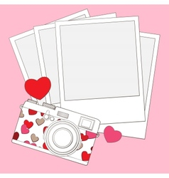 love photo camera background vector image