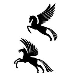 Pegasus winged horses vector image vector image