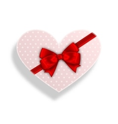 Romantic Gift Box with Bow Ribbon for Valentines vector image vector image