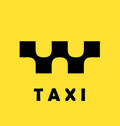 Taxi logo concept on yellow background vector image