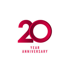 20 years anniversary template design vector