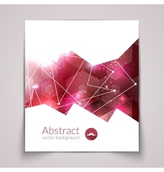 Abstract triangular 3D geometric colorful red vector image