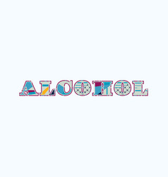 Alcohol concept word art vector